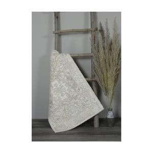 Béžová bavlněná koupelnová předložka My Home Plus Sensation, 60 x 90 cm