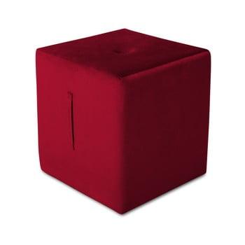 Puf Mazzini Sofas Margaret, 40 x 45 cm, roșu de la Mazzini Sofas
