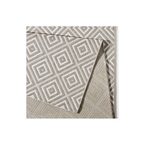 Šedý koberec vhodný i na ven bougari Karo, 160x230cm