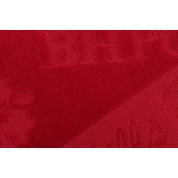 Vínový bavlněný ručník BHPC Velvet, 50x100 cm
