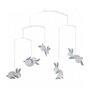 Závěsná mobilní dekorace Circular Bunnies