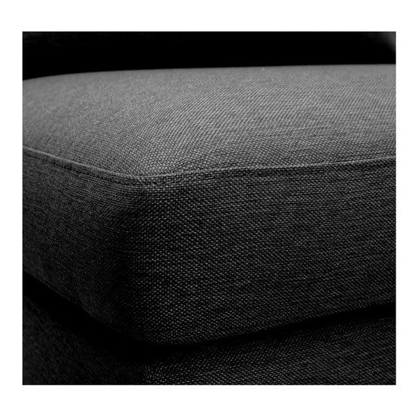 Antracitově šedé křeslo Vivonita Liam