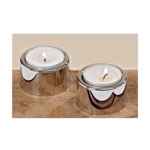 Sada 2 stojanů na svíčky Tea Silver