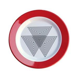 Sada 6 melaminových talířků Sunvibes Maillon Rouge, ⌀ 20 cm