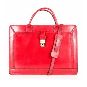 Červená kožená taška přes rameno Italia in Progress Riccardo