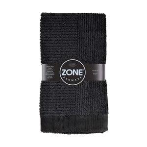 Černý ručník Zone, 100 x 50 cm