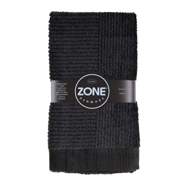 Černý ručník Zone Classic, 50x100cm