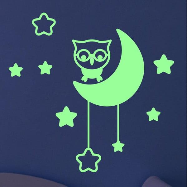 Samolepka svítící ve tmě Ambiance Moon and Stars