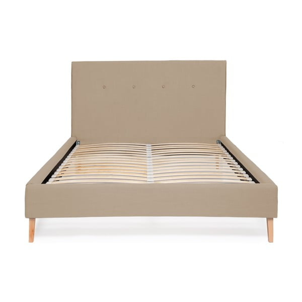 Beżowe łóżko Vivonita Kent Linen, 200x160cm