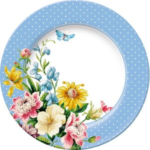 Dezertní porcelánový talíř Creative Tops English Garden, Ø19 cm
