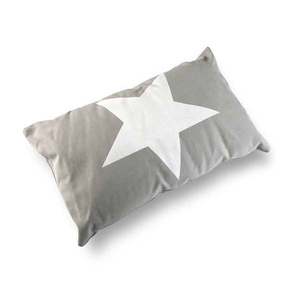 Polštář Versa Grey & White Stars, 50 x 30 cm