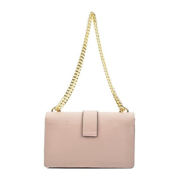 Růžová kožená kabelka Roberta M Gatura