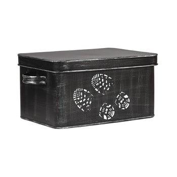 Cutie metalică pentru încălțăminte LABEL51, negru
