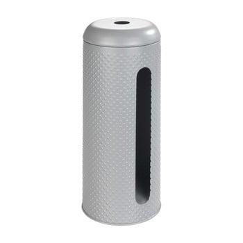 Suport pentru păstrare hârtie igienică Wenko Punto, oțel inoxidabil, gri