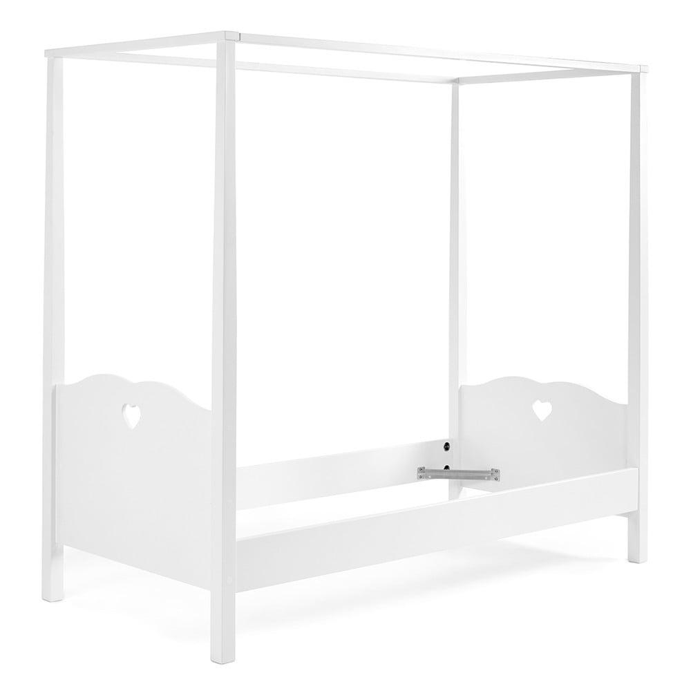 Bílá dětská postel s nástavcem na nebesa Vipack Amori