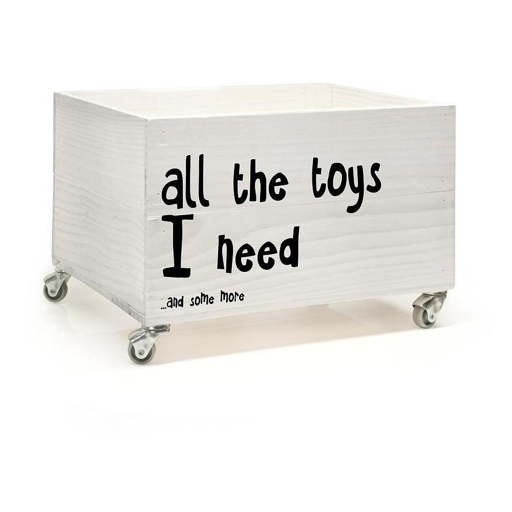 Dřevěná krabice na kolečkách Little Nice Things All The Toys