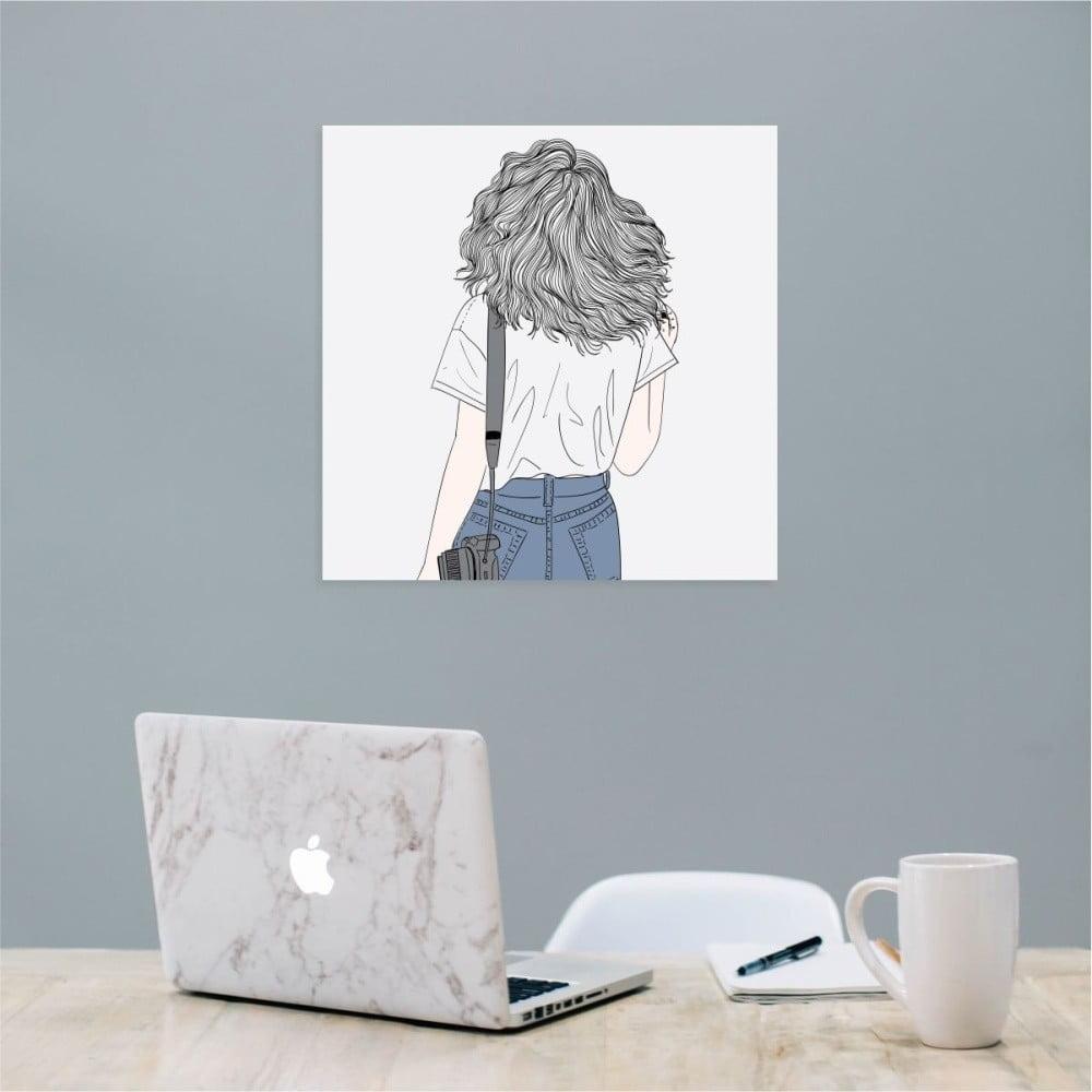 Nástěnný samolepicí obraz North Carolina Scandinavian Home Decors Girl V9, 30 x 30 cm