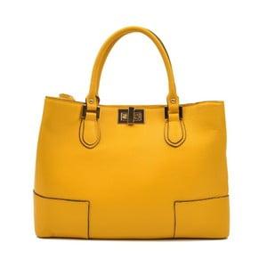 Žlutá kožená kabelka Anna Luchini Misseria