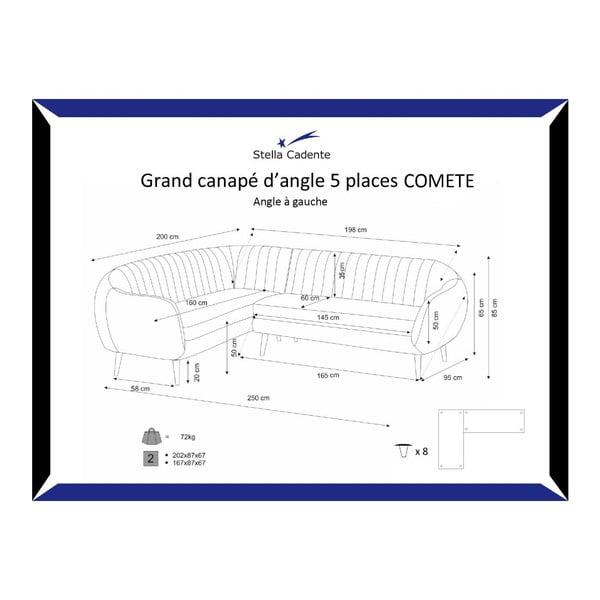 Pohovka Comete Grand Cherry s lenoškou na levé straně