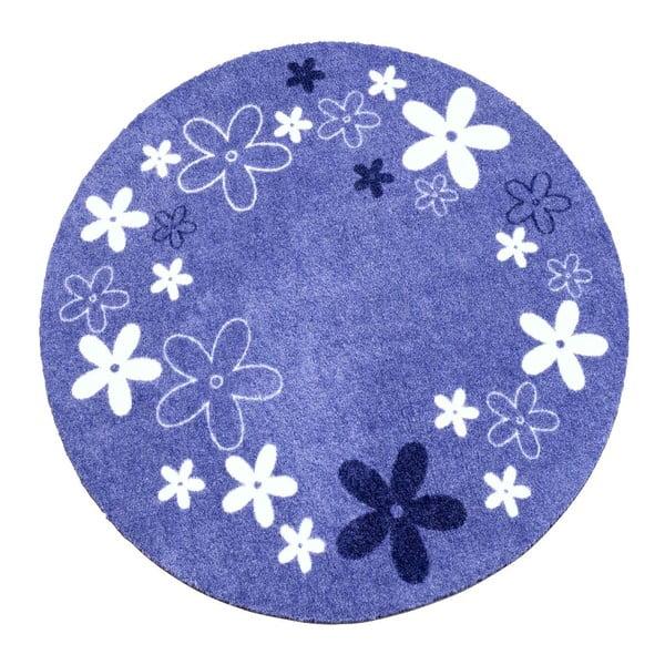 Dětský fialový koberec Hanse Home Kvítí, ⌀100cm