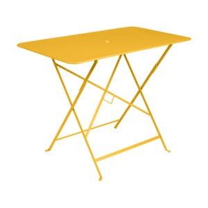 Žlutý zahradní stolek Fermob Bistro, 97 x 57 cm