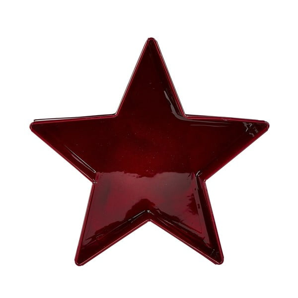 Tavă servire KJ Collection Stars, 19 cm, roșu