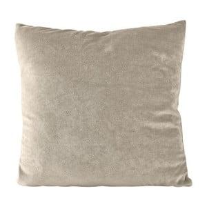 Béžový polštář se zipem KJ Collection, 45x45cm