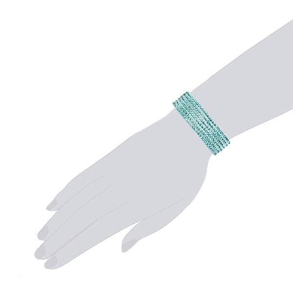 Náramek Simply Aqua, 19 cm