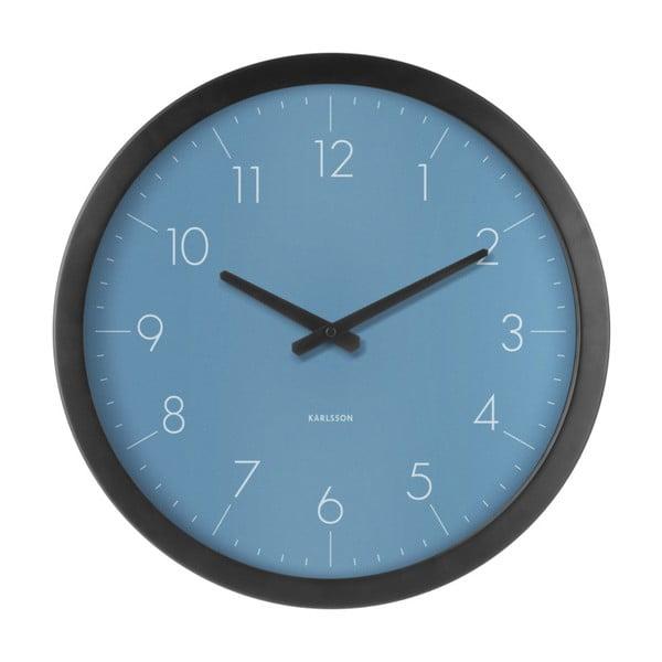 Modré nástenné hodiny z jedlového dreva Karlsson Dainty