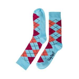 Barevné ponožky Funky Steps Caro, velikost 39 – 45