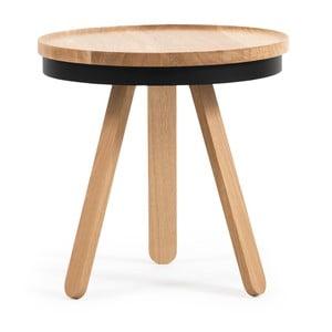 Přírodno-černý odkládací stolek s podnosem Woodendot Batea S