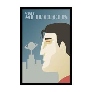 Plakát Visit Metropolis, 35x30 cm