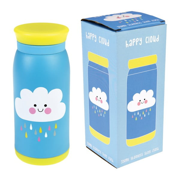 Butelka ze stali nierdzewnej Rex London Happy Cloud, 350 ml