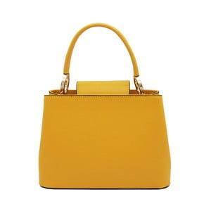 Žlutá kabelka z pravé kůže Andrea Cardone Milleo
