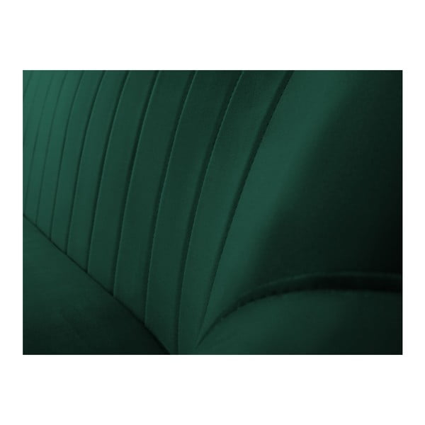 Tmavě zelená třímístná pohovka Mazzini Sofas Benito