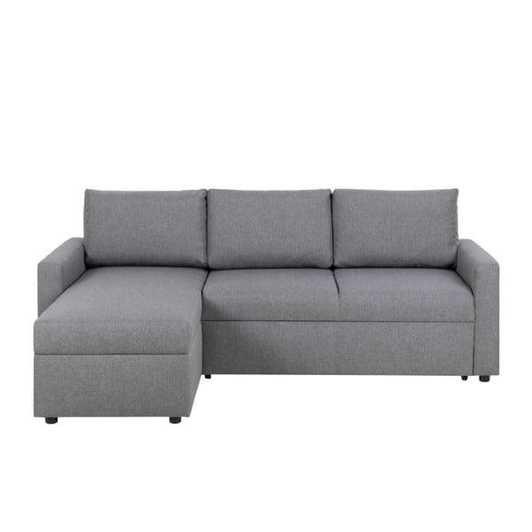 Sacramento világos szürke kihúzható kanapé, tárolóhellyel - Actona