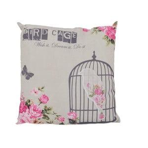 Polštář Ewax Pink Cage, 40 x 40 cm