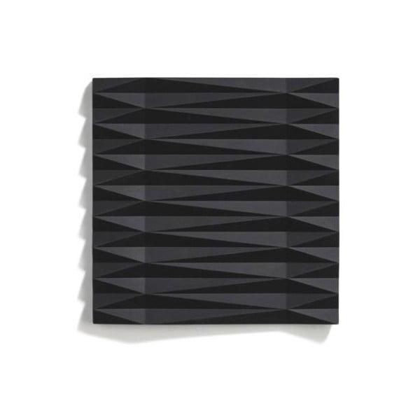 Origami Yato fekete szilikonos edényalátét, 16 x 16 cm - Zone