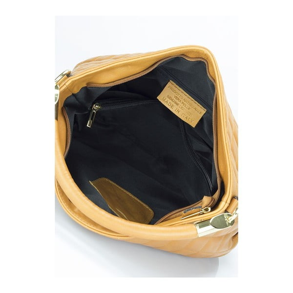 Kožená kabelka Markese 6937 Cognac