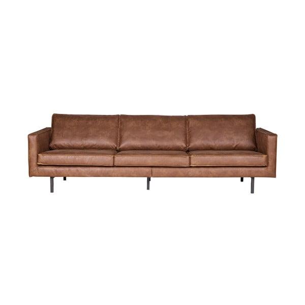 Rodeo barna háromszemélyes kanapé, újrahasznosított bőrhuzattal - BePureHome