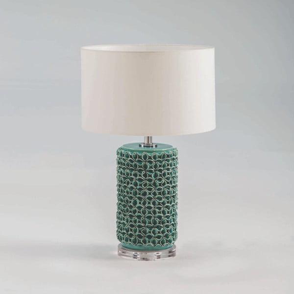 Zelená keramická stolní lampa bez stínidla Thai Natura, výška 45cm