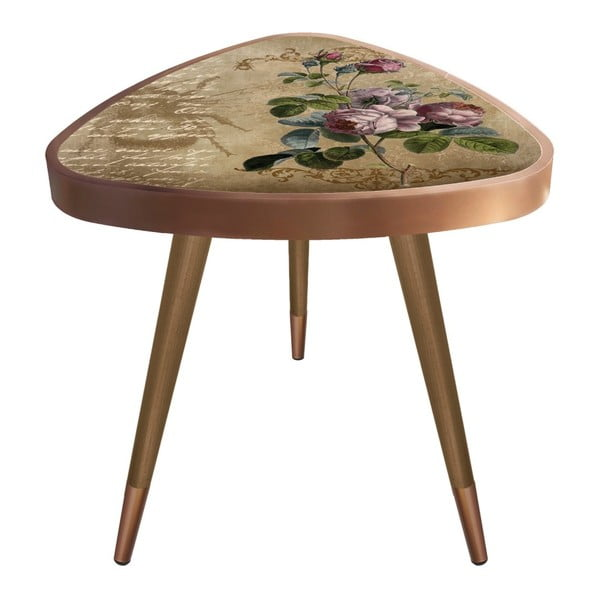 Príručný stolík Maresso Brown Rose Triangle, 45 × 45 cm