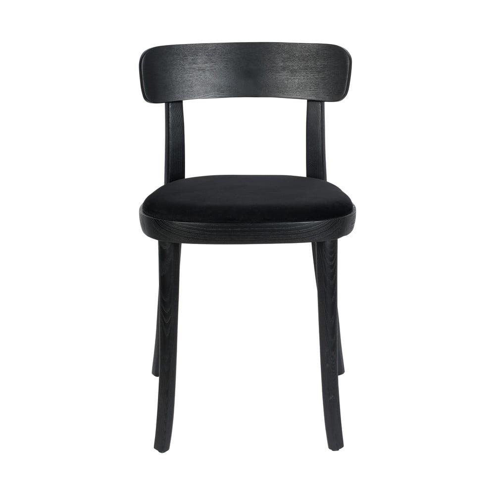 Sada 2 černých jídelních židlí Dutchbone Brandon