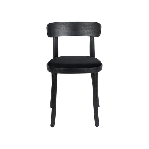 Set 2 scaune Dutchbone Brandon, negru