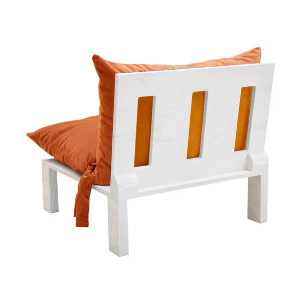 Křeslo s polštárovými opěrkami Tanzania Orange