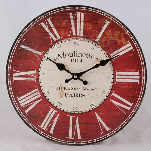 Dřevěné hodiny Moulinette