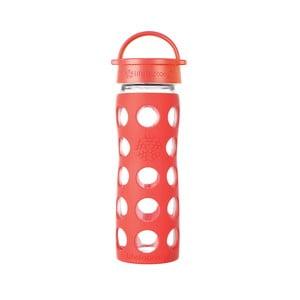 Sticlă de voiaj, din sticlă cu protecție din silicon, Lifefactory Poppy Classic, 475 ml