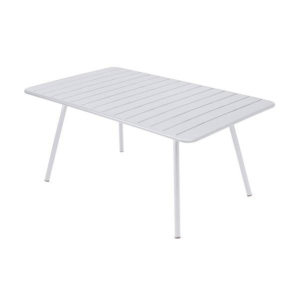 Bílý kovový jídelní stůl Fermob Luxembourg