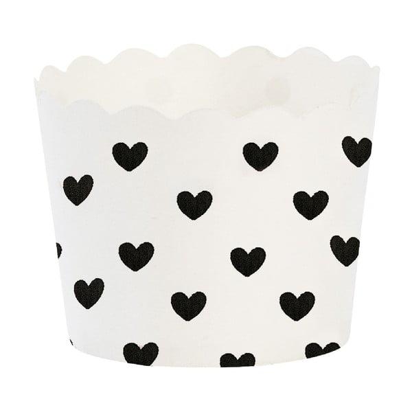 Papírové košíčky na muffiny Black Heart, 24 ks