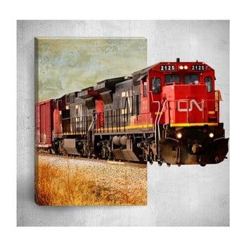 Tablou de perete 3D Mosticx Train, 40 x 60 cm